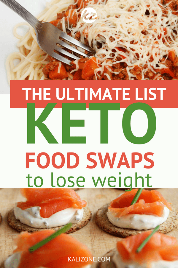 The ultimate list of low carb swaps will help you stick to your keto diet!