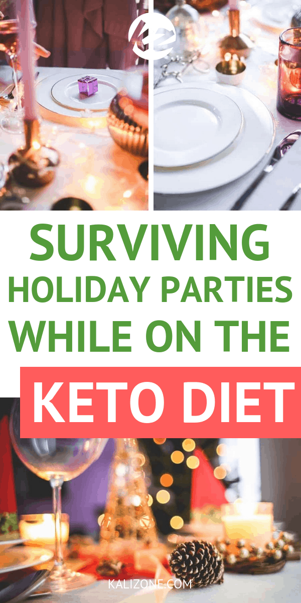Keto Christmas Party Survival Guide – how to deal with all the holiday parties while on the keto diet.