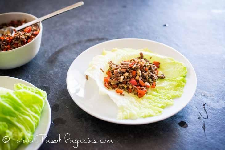 Keto Cumin Spiced Beef Wraps