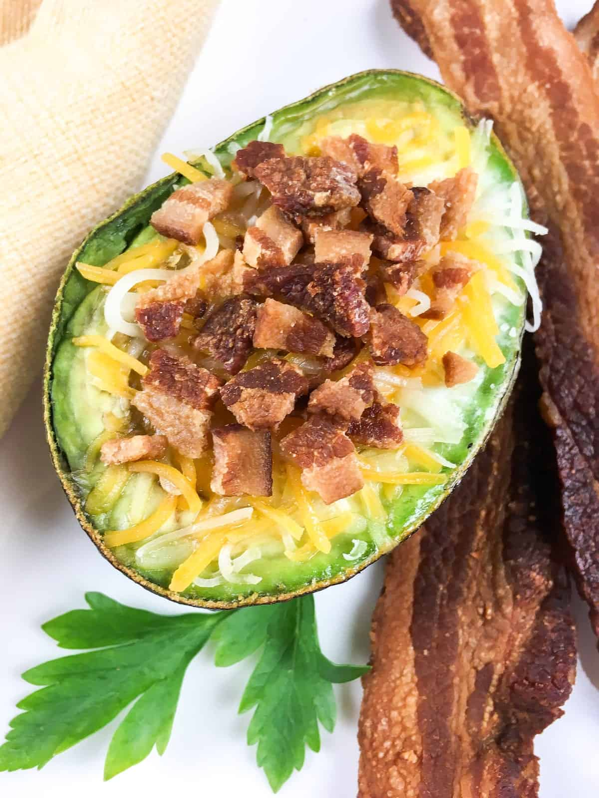 Loaded Avocado with Baked Eggs