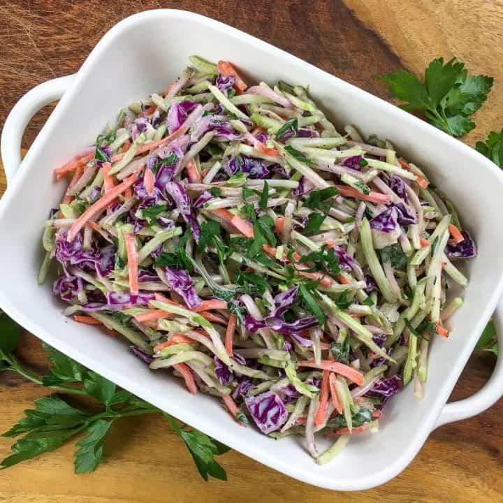 Super Easy Crisp & Crunchy Broccoli Slaw