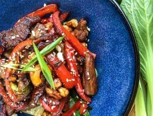 Keto Cashew Pork Stir-Fry