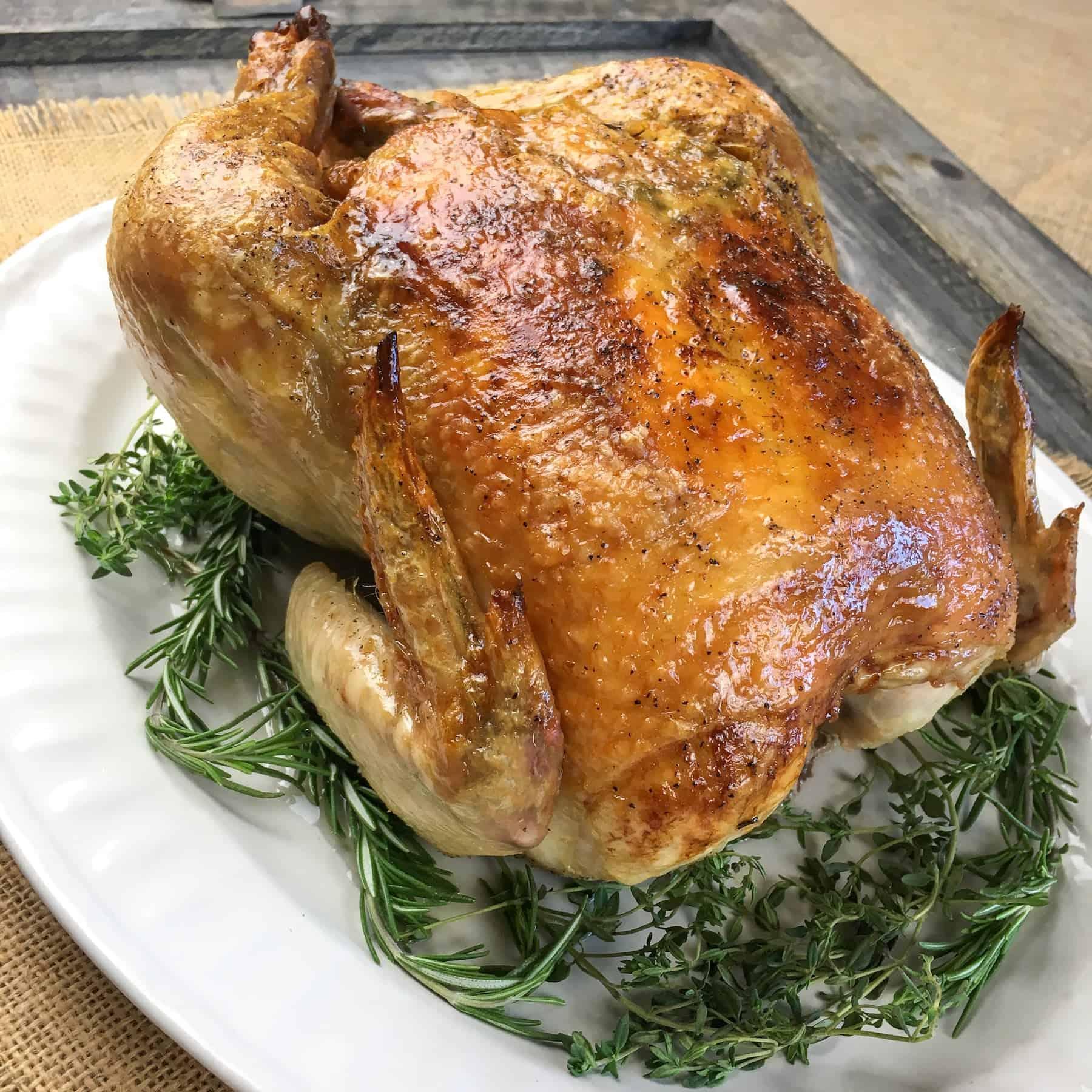 Garlic-Herb Whole Roasted Chicken
